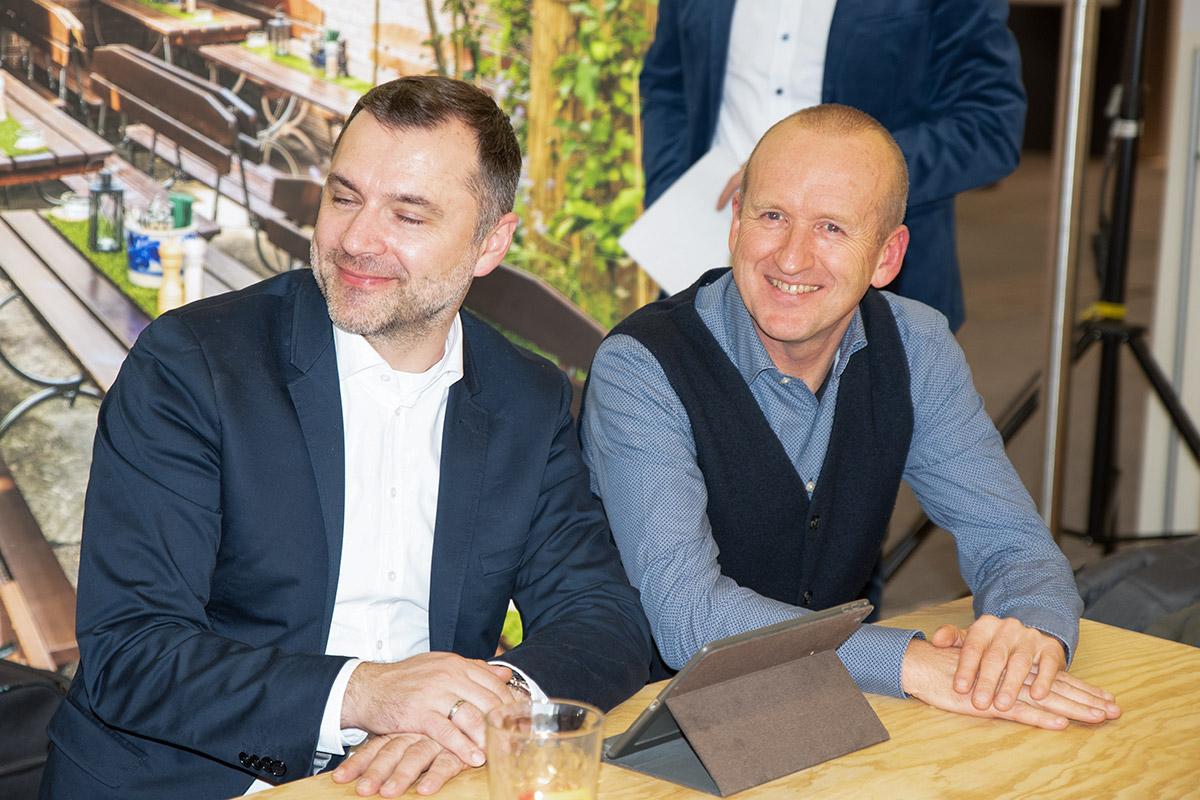 Jörg mit Tino Börner, unserem Außendienst für Gardisette und Sonnenschutz von JAB