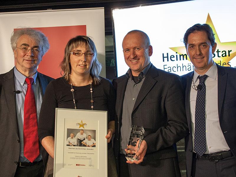 Heimtex-Star Siegerfoto, vlnr: Michael Steinert, Anja Fath, Jörg Reichelt, Claus Anstoetz