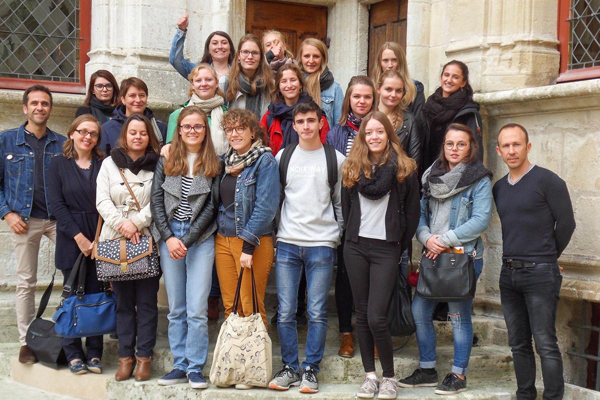 Zusammen mit den Französischen Azubis beim Schloss Azay le Rideau.