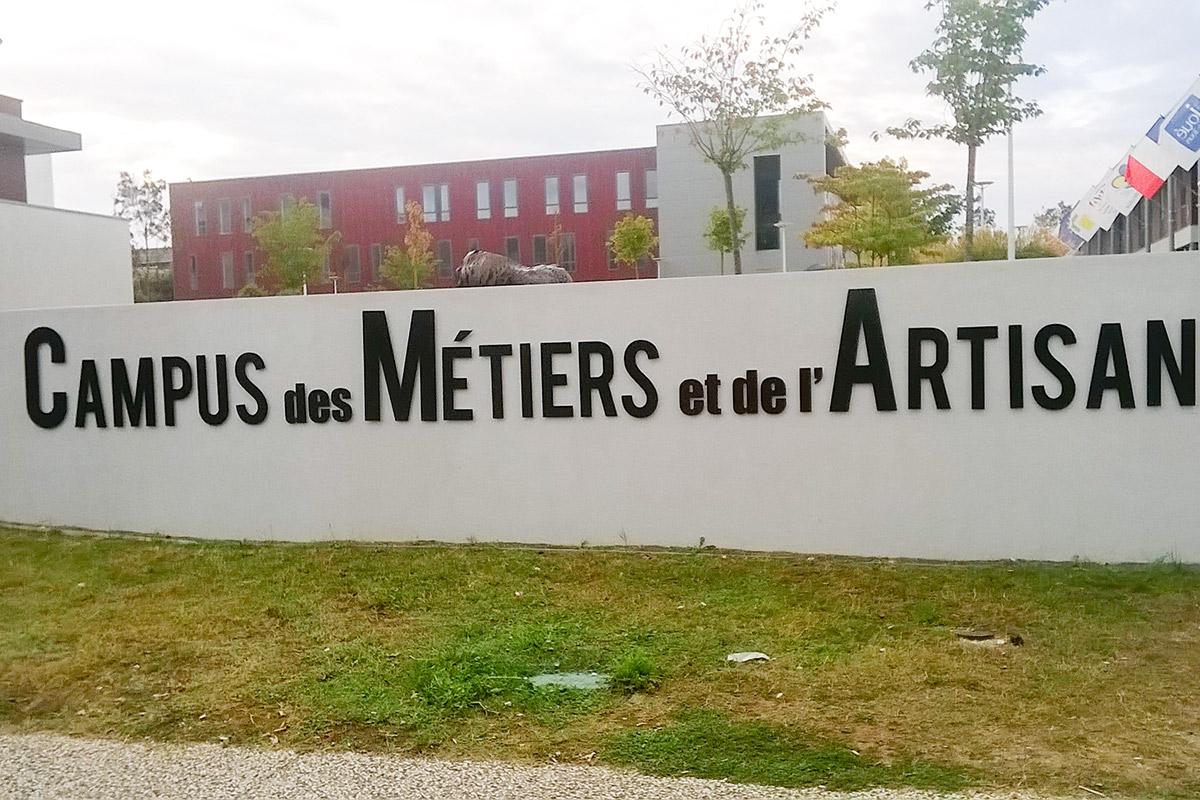 Unsere Partnerschule Campus des Métiers et de l' Artisanat.