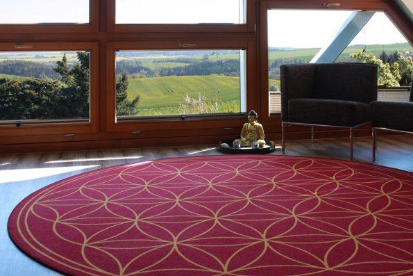 Teppich Blume des Lebens mit Aussicht